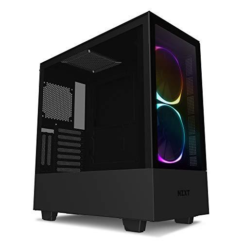 NZXT H510 Elite - Premium ATX-Mid-Tower-Gehäuse für Gaming-PCs - Dual-Tempered Glass-Fenster - Front USB-C Port - Vertikale GPU Montage möglich - Für Wasserkühlung nutzbar - Schwarz