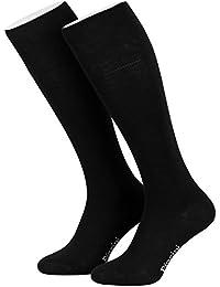Piarini® - 4 Pares de calcetines largos de ejecutivo - Alto contenido en algodón - Con elastano - Sin elástico