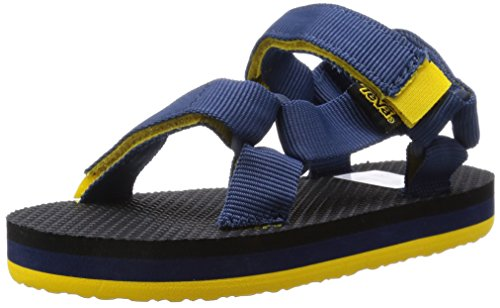 Teva  Original Universal C's, Sandales sport et outdoor mixte enfant - Bleu - Blau (965 navy/yellow), 24/25 EU