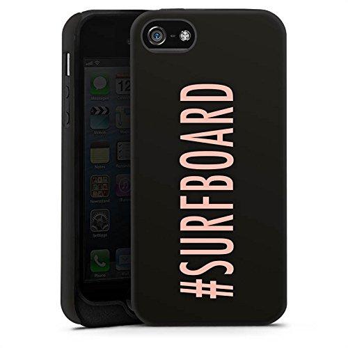 Apple iPhone X Silikon Hülle Case Schutzhülle Surfboard Flawless Statement Tough Case matt