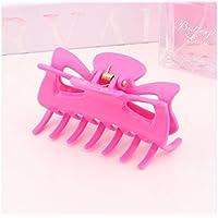 FOUGNOGKISSS Lady Plastic Clip de pelo Mandible Clip Ponytail Clip (Rosa)
