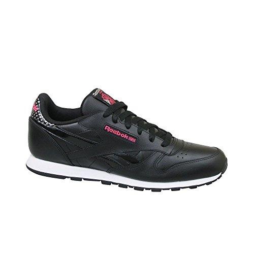 check out 59051 9739e Reebok CL Leather Girl Squad – , Mädchen Sneaker, Schwarz (Black Acid Pink