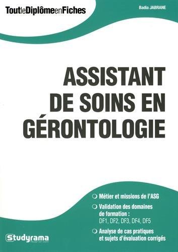 Assistant de soins en gérontologie
