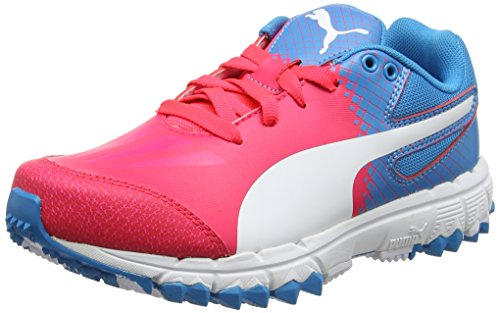 Puma Evospeed 4.5 Fh, Chaussures de Football Mixte Enfant Rose (Bright Plasma-puma White-blue Danube 05)