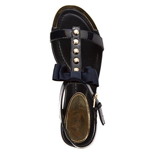 Marc Fisher Mavies Synthetik Sandale Dark Blue