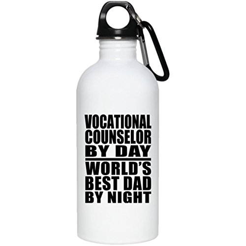 berufliche Ratgeber für Tag World 's Best Dad by Night–Wasser Flasche, Edelstahl Tumbler, beste Geschenk für Vater, Papa, ihn, Eltern von Tochter, Sohn, Kind, Frau (Flüssigkeit Kinder Unzen Von 4)