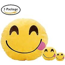 Regalos de Navidad para niños,Emoji Encantadora Almohada, Llavero Emoticono,Monedero para los Niños 3PCS (Lengua)
