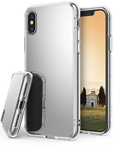 Ringke Mirror Kompatibel mit iPhone X Hülle, Hell Reflektierender Luxuriöser Spiegel Case Schutzhülle Dünne Stoßdämpfend Stylische Handyhülle Cover für iPhone 10 Schutzhülle - Silber