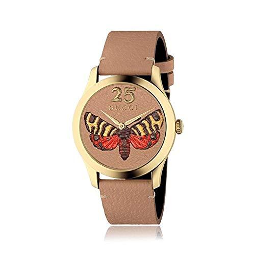 Gucci G-Timeless-Armbanduhr 38mm Armband Leder Braun Gehäuse Quarz YA1264063