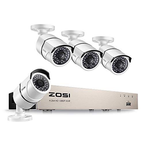 ZOSI Sistema Vigilancia PoE 1080P CCTV Kit Cámara
