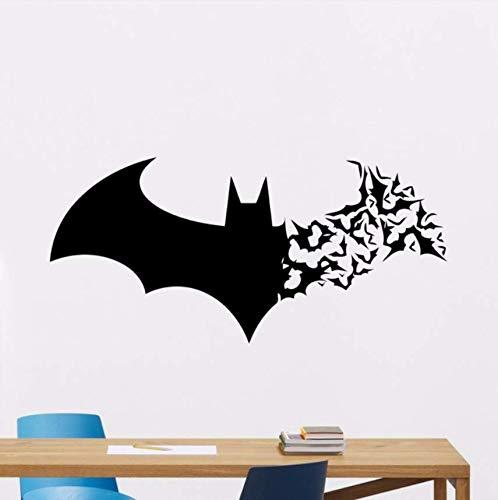 (Yirenfeng Batman Wandtattoo Kinder Bat Logo Superhero Vinyl Aufkleber Kinderzimmer Dekoration Comics Stil Poster Batman Wandaufkleber)