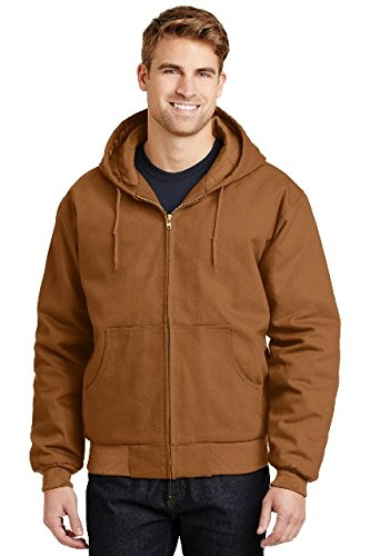 CornerStone® - Duck Cloth Hooded Work Jacket. J763H Duck Brown M