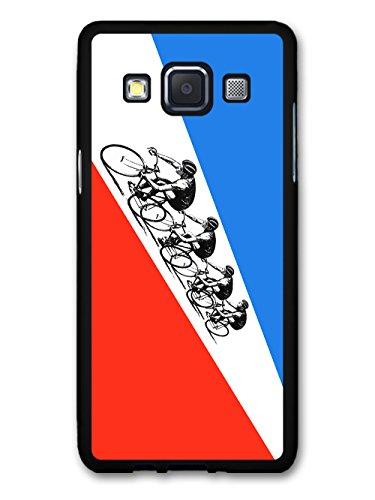 The Tour de France Bicycle Race Sport French Flag Retro hülle für Samsung Galaxy A3 (2014 edition) (Tour De France Flag)