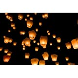 My Party Shop Grandshop Sky Lanterns(Pack of 10)