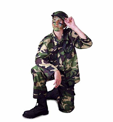 (Gurimo-Tex 117056 Soldaten-Tarnanzug Gr Kinderkostüm, 128)