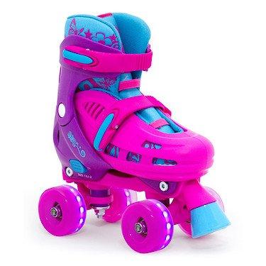 SFR Hurricane Quad verstellbare Rollschuhe LED-Rollen Mädchen pink pink, 35.5-39.5