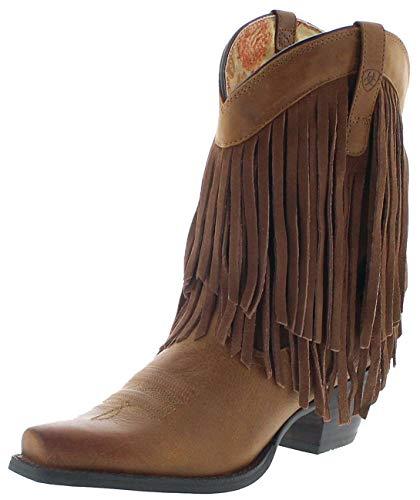 Ariat Damen Cowboy Stiefel 14102 Gold Rush Westernstiefelette Fransenstiefel 37 EU
