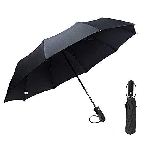 Regenschirm Taschenschirm, Hibbent Regen- und Sonnenschirm-Auf-Zu-Automatik-Faltbar Klein,...