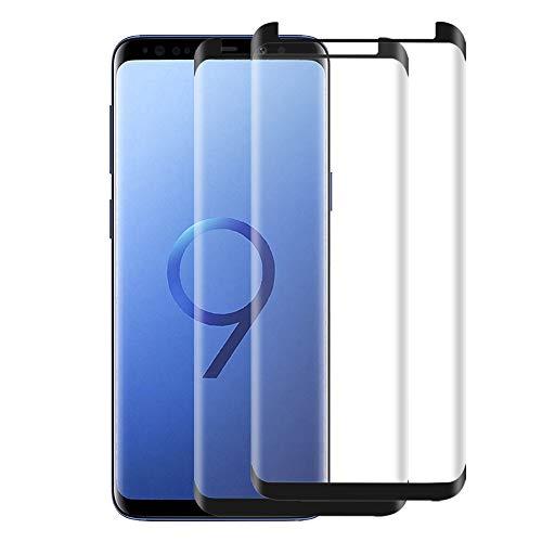 sylanda Galaxy S9 Plus Schutzfolie Panzerfolie, 2 Stück HD Ultra Klar Displayschutzfolie 3D 9H Härtegrad Anti-Kratzer Anti-Fingerabdruck Displayschutz für Samsung Galaxy S9 Plus