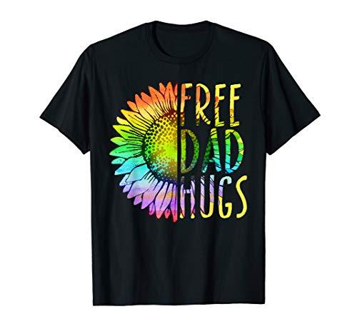 Free Dad Hugs - LGBT-Stolz Regenbogen Sonnenblume Shirt T-Shirt