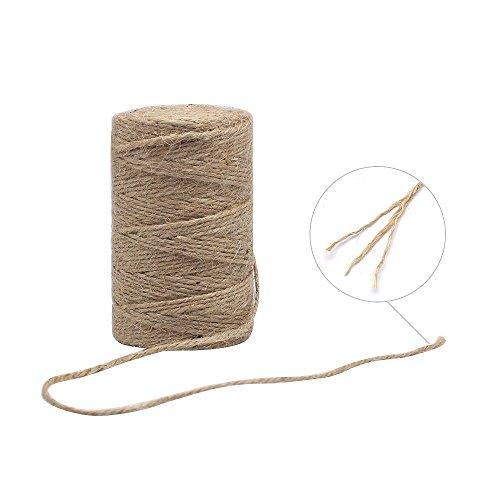 Homgaty 100 m Ficelle de jute naturel épais Jute Ficelle Corde pour jardin, fleurs, cadeaux, DIY Arts & Crafts, décoration, liasses