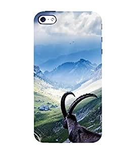 Fuson Designer Back Case Cover for Apple iPhone 4S (Hills Mountains Snowy Mountains Natural Cloudy Sky)