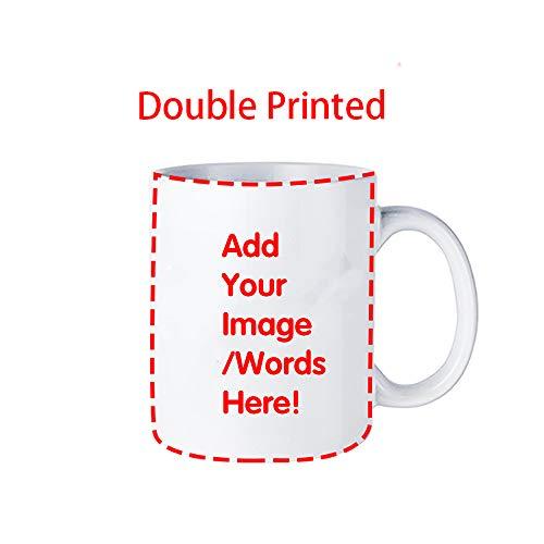 NaisPanda Tazas Personalizadas,Tazas de Cerámica para Té o Café con Mango Taza de Agua Porcelana 330ML A-Customize