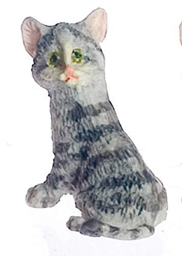 Melody Jane Puppenhaus Sitzender Kätzchen Miniatur Katze 1:12 Maßstab -
