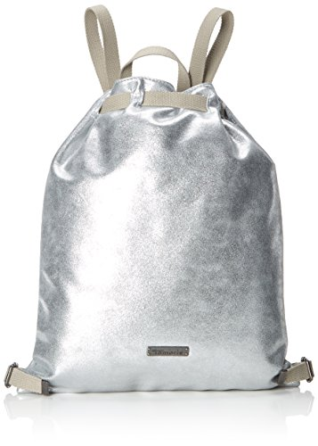 Tamaris Damen Nico Bucket Bag Rucksackhandtasche, Silber (Silver), 1x42x36 cm -