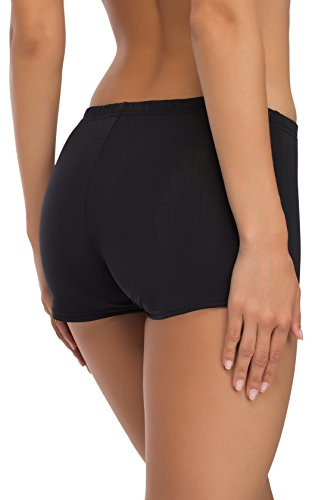 Merry Style Damen Badeshorts Bikinihose Modell L23L1 Schwarz