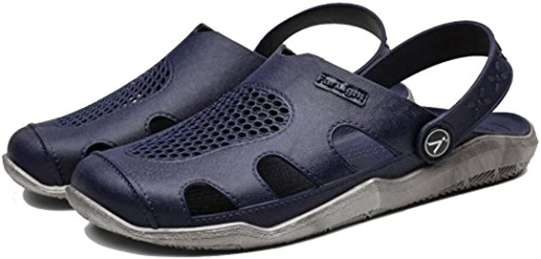 GAOLIXIA Sandalias de la manera de los hombres del verano del hueco transpirable zapatillas antideslizantes zapatos