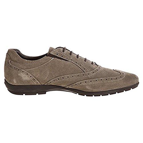 Geox Homme Jeff B, Chaussures À Lacets Homme Beige Beige 48 Beige (brun)