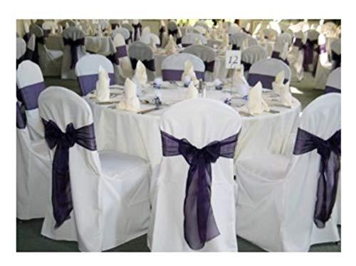 SPRINGROSE Stuhlhussen für Banketts, 100 Stück, Polyester, rund, Weiß