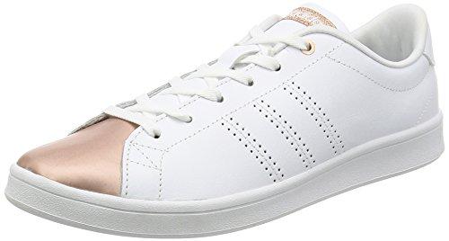 reputable site c80c5 e6fd0 adidas Advantage Clean Qt W, Sneaker Bas du Cou Femme Blanc Cassé (Ftwbla