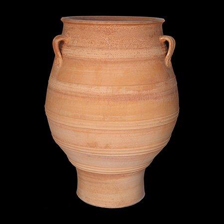 Traditional Cretan handmade terracotta pot - Minoan design