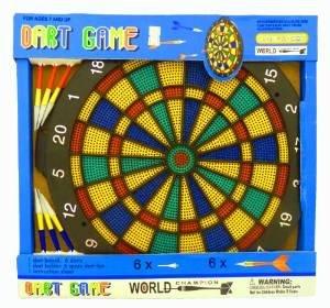 NICK and BEN Dart-Board Dart-Scheibe Wurf-Scheibe Dart-Pfeil Soft-Darts 30 cm 6 Pfeile Kunststoff