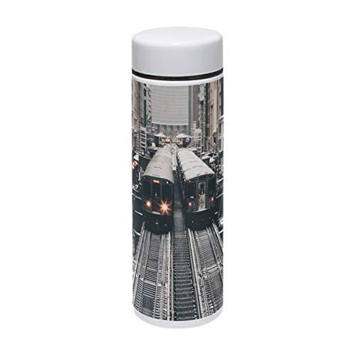 MUOOUM City Two Train Vakuumisolierte Edelstahl-Reise-Tasse, Sport-Wasserflasche, 200 ml, heiß für 12 Stunden