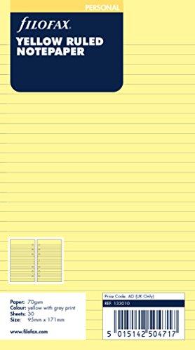 Filofax 133010 Personal Notizpapier, liniert, gelb