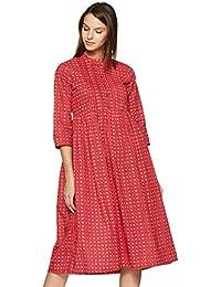 Rangriti Women's Satin A-Line Dress