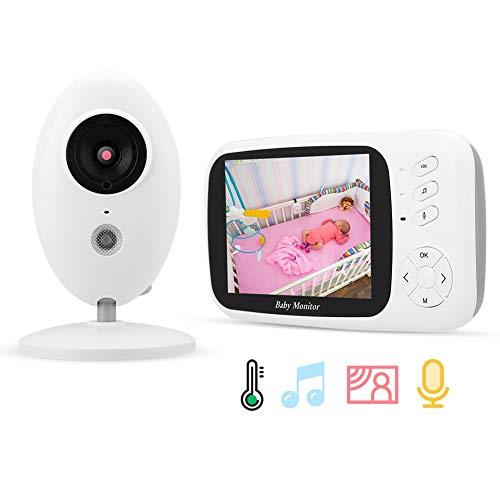 Sicherheits Monitor für Kind, Drahtloser Baby Monitor IR Kamera Baby Schlaf Pflege(EU) Farb-dome-video