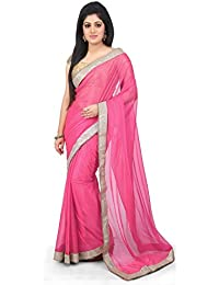 Aarti Saree Lycra Saree In Light Pink Color With Running Blouse And Plane Border On Lace.
