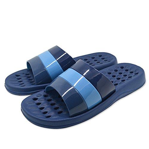Dusch Badeschuhe KENROLL Sommerurlaub Schuhe Zehentrenner Strandschuhe Flip Flops für Herren für Damen Marineblau