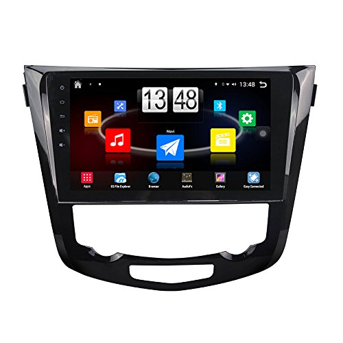 TOPNAVI 10.1 Inch Android 6.0 in Dash Car GPS Navigation for Nissan X Trail 2014 2015 with canbuswith Canbus Car Full Touch Screen CAM IN Car Stereo Player Radio Wifi Bluetooth Carplay Octa Core Monitor