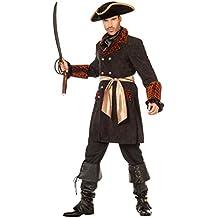Karneval Klamotten Piraten Jacke Herren Pirat Kostüm Herren Piraten-Kostüm Herren-Kostüm Piraten-Mantel schwarz Karneval Größe 48