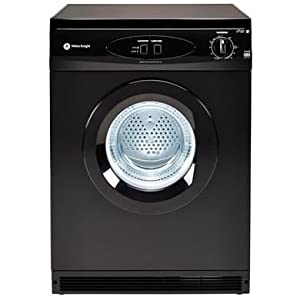 White Knight C44AB 6kg Freestanding Vented Tumble Dryer - Black by White Knight