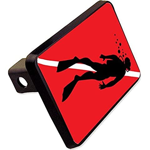 Scuba Diver Flag Trailer Hitch Cover Plug Funny Diving Novelty by cheapyardsigns