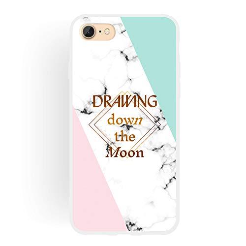 Shinyzone Girly Marmor Hülle für iPhone 8,iPhone 7 Hülle Elegant Traumfänger Schönen Muster für Frauen TPU Weich Tasche Matt Silikon Rückseite Handyhülle -