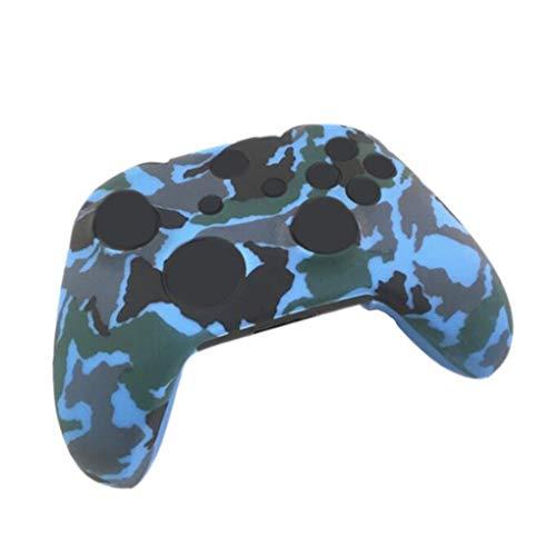 Vkospy Ersatz für Xbox One X One S Controller Silikon Guards schützender Haut Fall Tarnung Cover + 8pcs Griffe Caps Set -
