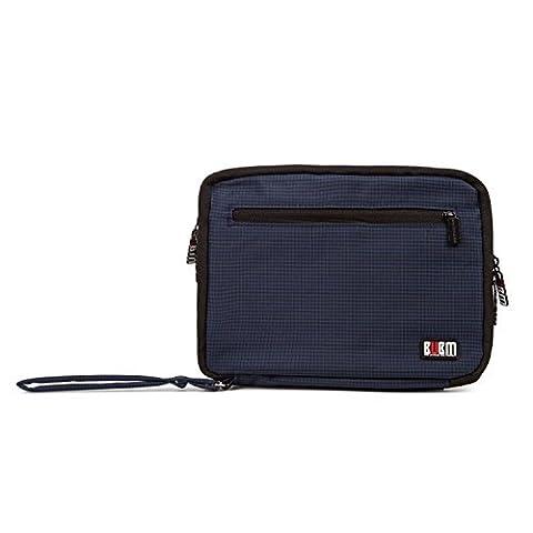 BAIGIO Sac mini Sac de clés d'USB Organisateur de câbles électroniques Universal Electronics Accessoires Voyage Sac de protection de tablettes Sac de voyage, Bleu