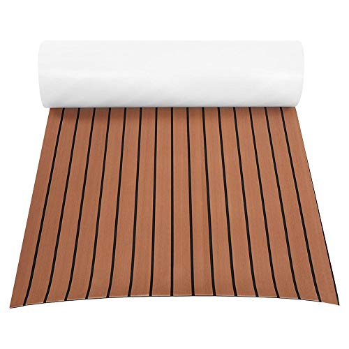 EBTOOLS Eva-Teak Deck Pad Eva Marine Matte Anti-Rutsch Bodenbelag für Boote, 240 * 90 * 0,6 cm, 2 Farben optional (Dunkelbraun)
